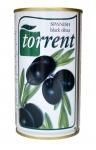 Оливки черные с косточкой (Испания) 350 гр. (нетто 200 гр.) ж/б