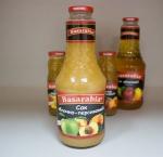 Сок Basarabia яблоко-персик с мякотью 1 л.